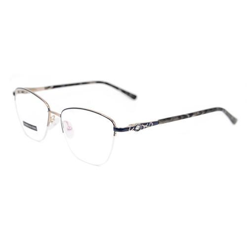 El último marco óptico de la lente del metal del diamante del marco de las gafas del último modelo floral de la venta para las mujeres