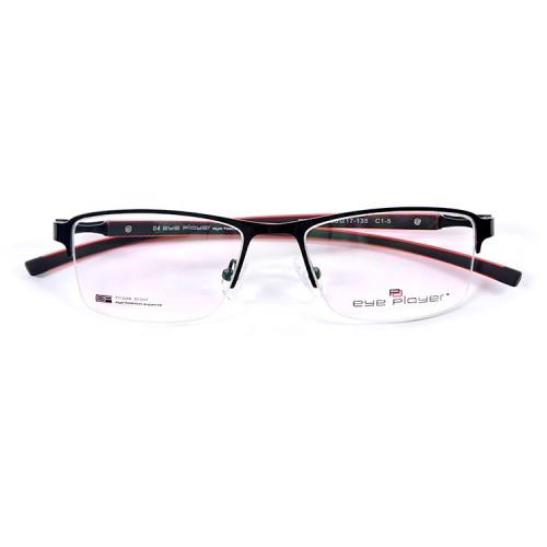 Nuevo modelo de estilo de moda halfrim gafas de metal marcos TR90 temple eyeglassframe óptico para hombre