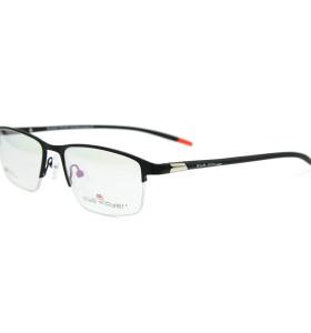 الجملة نموذج جديد دائم نظارات معدنية tr90 لينة مرنة halfrim الإطار البصرية الرجال