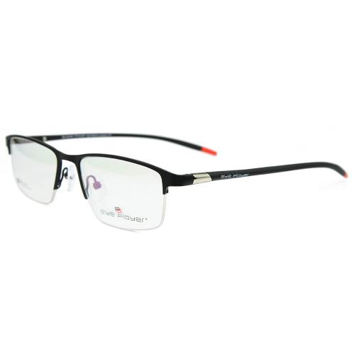 Venta al por mayor nuevo modelo durable metal gafas tr90 suave flexible halfrim marco óptico hombres