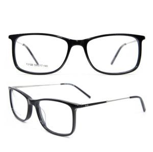 Nuevos marcos ópticos de la moda de la venta del claro del marco del espectáculo gafas ultrafinas de los vidrios del acetato para el hombre