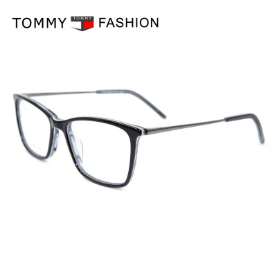 موضة جديدة اللون رقيقة خلات النظارات عالية الجودة إطارات النظارات البصرية المعدنية للرجال