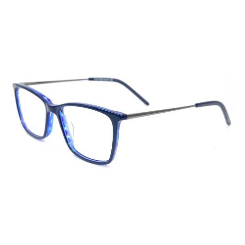 Nuevos marcos ópticos de la lente del metal de alta calidad de las gafas del acetato del color de la moda para los hombres