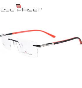 جديد تصميم الأزياء دائم المعادن بدون شفة النظارات إطارات TR90 إطار النظارات البصرية للرجال