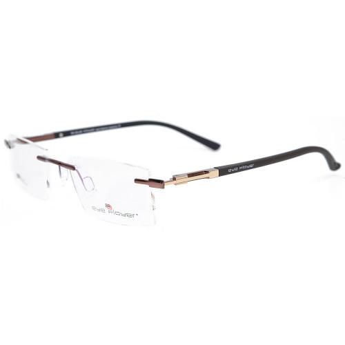 El nuevo diseño de moda de metal duradero sin montura de gafas, marco de lente óptica TR90 para hombres