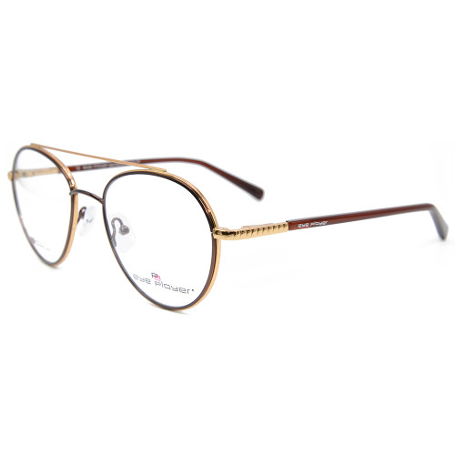 La última nueva moda de encargo durables gafas de metal redondo elasticidad primavera marcos de gafas ópticas