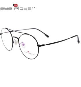 أحدث أعلى بيع الأزياء دائم التيتانيوم النظارات إطارات معدنية مستديرة إطار النظارات البصرية