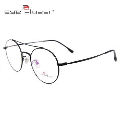 Latest top sale fashion durable titanium eyewear frames metal round eyeglass optical frame