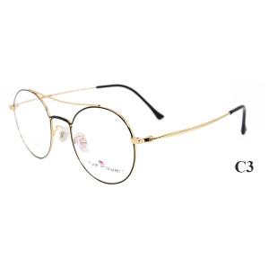 Son üst satış moda dayanıklı titanyum gözlük çerçeveleri metal yuvarlak gözlük optik çerçeve