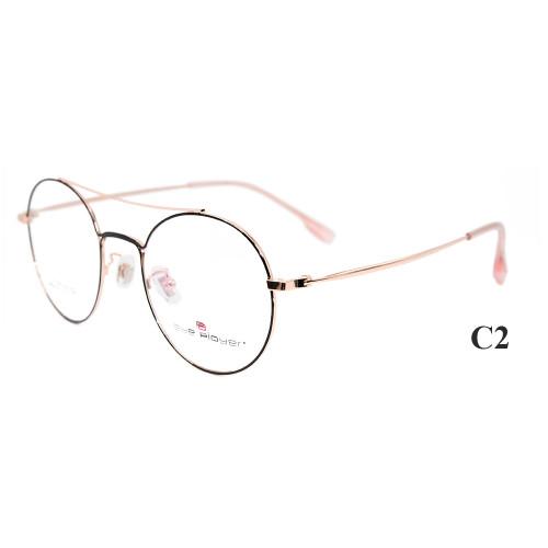 Los marcos de gafas de titanio durables de la última moda de la venta superior enmarcan el marco óptico de la lente redonda