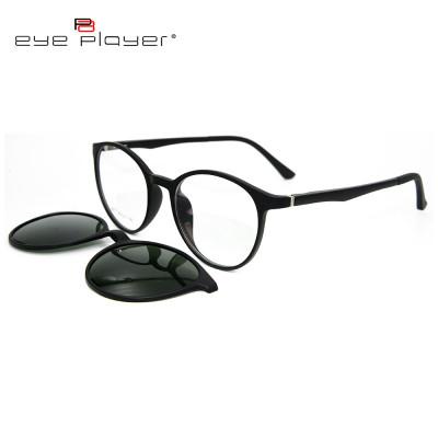 حار بيع جديد أزياء نمط النظارات الشمسية كليب المغناطيسي على النظارات الشمسية المستديرة مع عدسة الاستقطاب