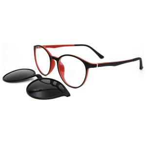 Clip magnético de las gafas de sol del nuevo estilo de la moda de la venta caliente en las gafas de sol redondas con la lente polarizada