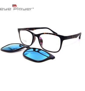 أعلى بيع أفضل نوعية الأزياء TR90 عدسة مكبرة عدسة الاستقطاب المغناطيسي على النظارات الشمسية للجنسين