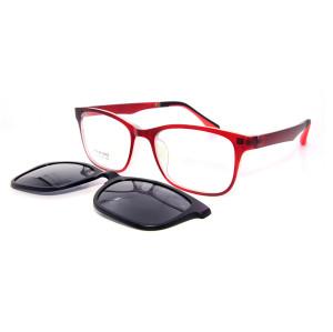 Clip de lente polarizada magnético de gafas de sol de moda de calidad superior TR90 en gafas de sol unisex