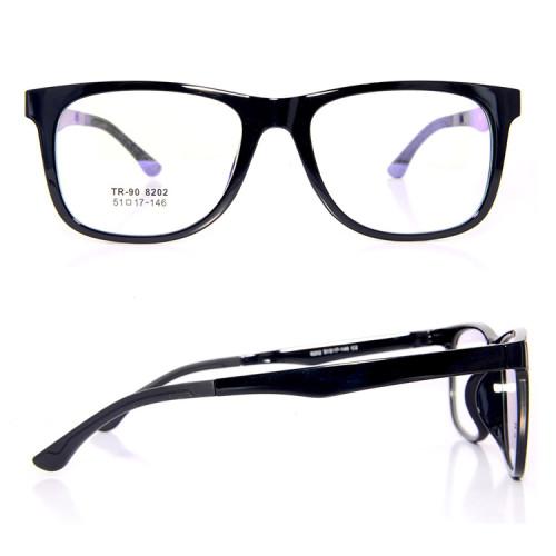 Listo stock clip magnético TR90 de alta calidad en gafas de sol con lentes polarizadas unisex