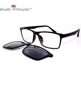 عارضة أزياء نمط جديد TR90 مربع مقطع النظارات الشمسية على النظارات الشمسية مع عدسة الاستقطاب للجنسين