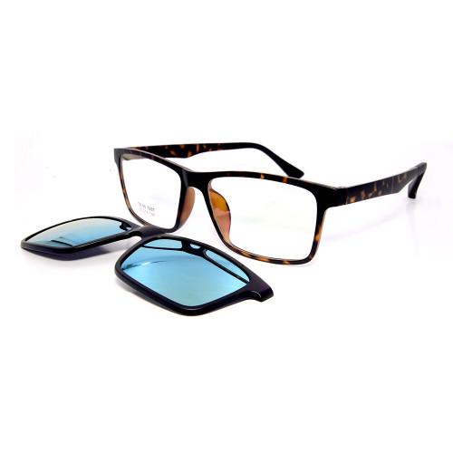 Nuevo modelo de moda con clip magnético de gafas de sol cuadradas TR90 para gafas de sol con lentes polarizadas unisex
