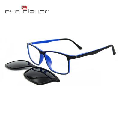 نموذج جديد مخصص الأزياء الملونة عدسة مكبرة المغناطيسي الاستقطاب عدسة على النظارات الشمسية للجنسين