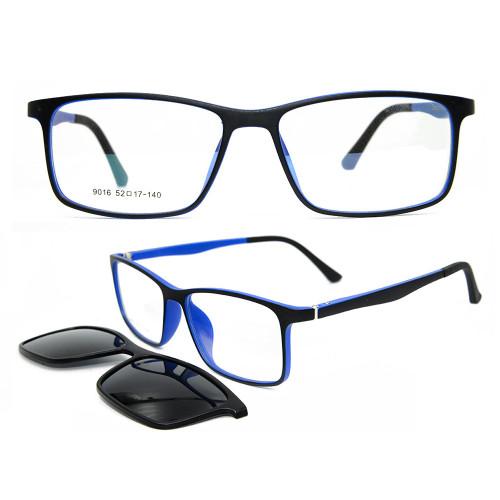 Nuevo modelo personalizado de moda colorido gafas de sol magnético polarizado clip de lente en gafas de sol unisex