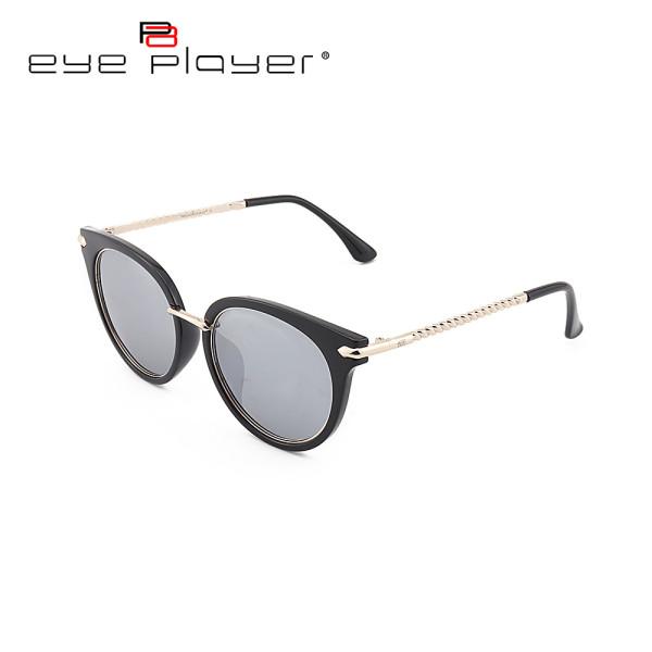 Toptan new moda stil kedi gözlük TR90 metal Yuvarlak polarize lens ile güneş gözlüğü