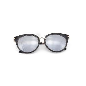 Gafas de sol redondas al por mayor del nuevo estilo de la moda gafas del ojo de gato TR90 del metal con la lente polarizada