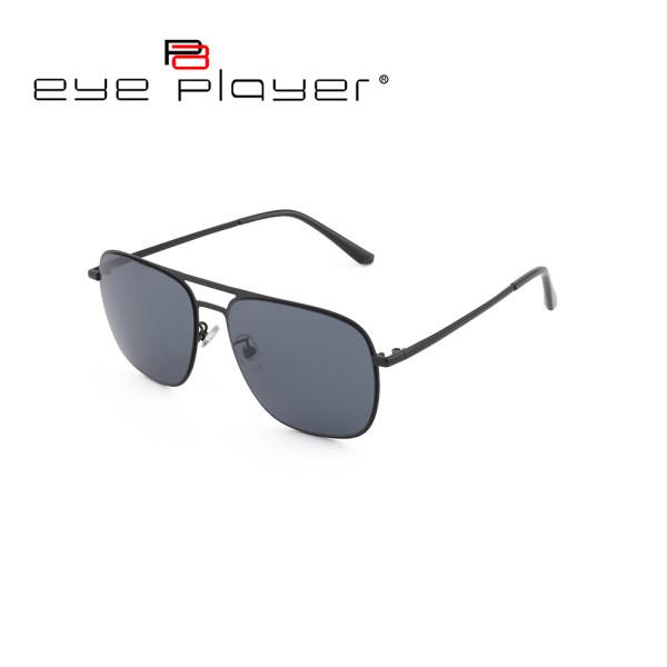 Wholesale new model custom classical double bridge sun glasses metal sunglasses with Nylon lens