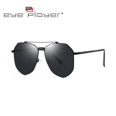 Gafas de sol calientes de encargo del metal de los vidrios de sol del puente del doble de la moda de la venta de la nueva fábrica con la lente de nylon