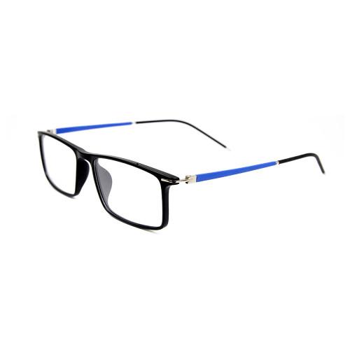 Nuevo modelo de fábrica personalizado marco de gafas cuadradas ligeras TR90 ópticas ópticas cómodas