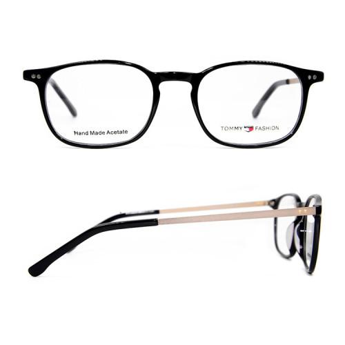 Venta caliente nueva moda contratada estilo metal anteojos acetato gafas marcos precios baratos