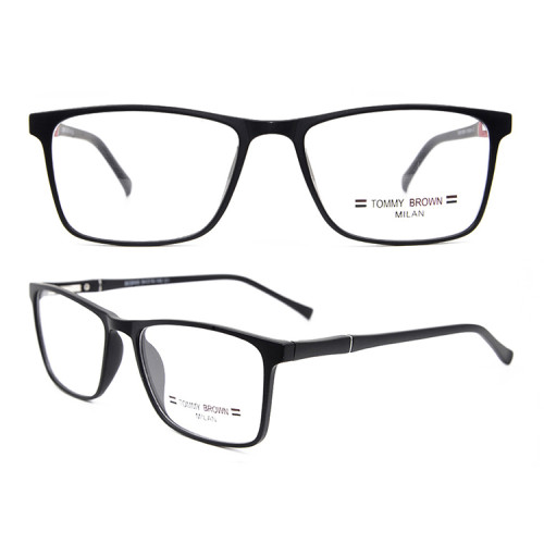 Las aduanas de la fábrica de China contrajeron las lentes ópticas flexibles flexibles del marco TR90 de las gafas del estilo clásico