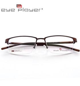 Nuevo modelo de moda estilo contratado gafas de metal halfrim soft TR90 marco de anteojos ópticos Hombres