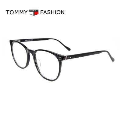 Top vente nouvelle mode lunettes de style contractées encadre des lunettes optiques rondes en acétate de meilleure qualité