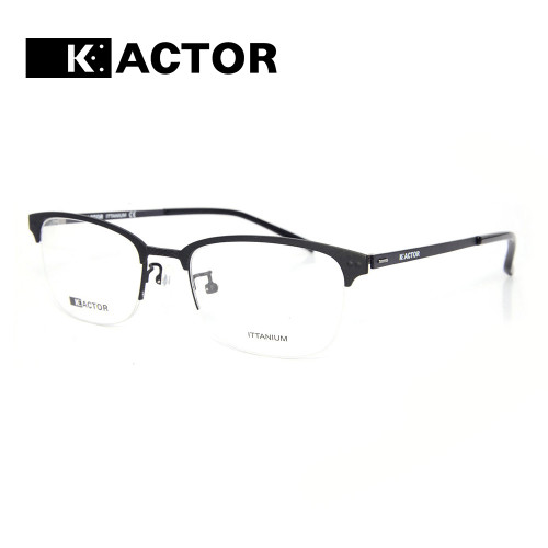 Lujo nuevo estilo de moda halfrim Gafas de metal monturas de gafas ópticas de titanio la mejor calidad