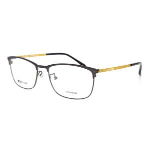 Venta caliente Nuevo estilo de moda flexible gafas de metal marcos de titanio óptico anteojos ligeros