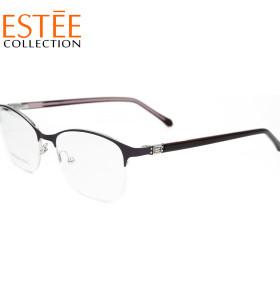 الصين مصنع مخصص جديد موضة نظارات إطارات معدنية الماس معبد خلات النظارات البصرية للنساء