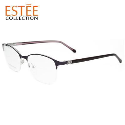 Фабрики китая на заказ новая мода металлические очки оправы алмазный Ацетат храм оптические очки для женщин