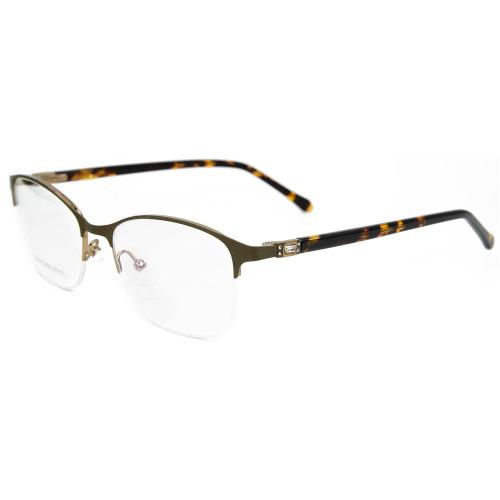 Fábrica de China personalizada nueva moda gafas de metal marcos diamante acetato acetato gafas ópticas para mujeres