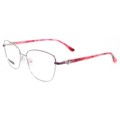 Monturas ópticas de metal de gafas de acero inoxidable personalizadas de nueva fábrica promocionales con diamantes de la mejor calidad