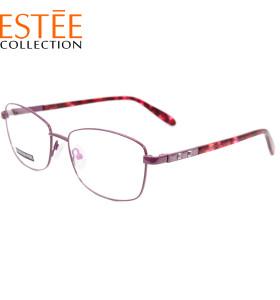 قوانغتشو مصنع مخصص جديد أزياء النظارات إطارات معدنية خلات معبد النظارات البصرية مع الماس