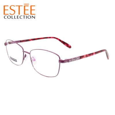 Гуанчжоу заводские новые модные металлические очки оправы ацетатный храм оптические очки с бриллиантом