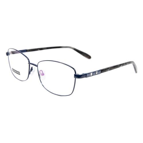 Guangzhou fábrica personalizada nueva moda gafas de metal marcos acetato templo lentes ópticos con diamante