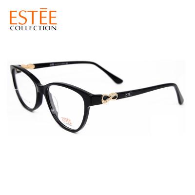 استعداد الأسهم مصنع جديد مخصص النظارات الفاخرة إطارات النظارات البصرية خلات مع حجر الراين المرأة