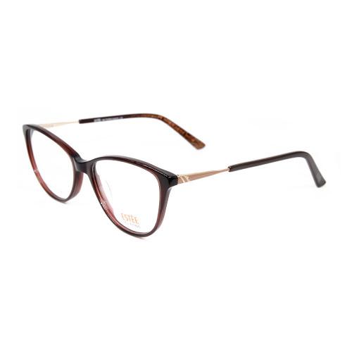 Anteojos de gato de la mejor calidad superior monturas de gafas ópticas de acetato de metal con diamantes mujeres