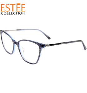 Best quality new vogue style optical frames Acetate metal luxury eyeglasses with Elasticity spring