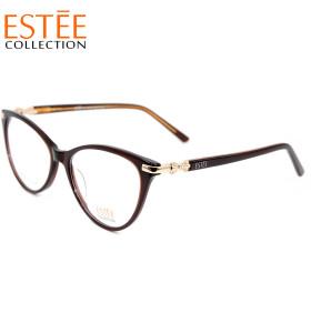 Wholesale new fashion cat eye glasses Acetate optical eyewear frames with luxury diamond for women