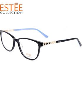 ترف تصميم الأزياء الجديدة النساء نظارات خلات الماس النظارات البصرية إطارات أفضل جودة