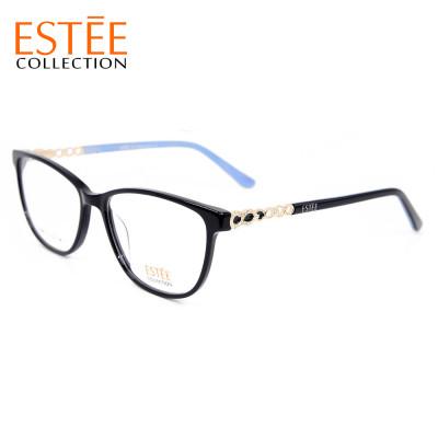 Роскошные новые модные дизайнерские женские очки из ацетата с алмазными оправами для очков
