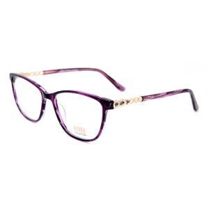 Lujo nuevo diseño de moda mujer gafas Acetato diamante gafas ópticas monturas mejor calidad