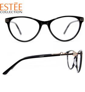 جديد وصول الأزياء الفاخرة نمط النظارات إطارات النظارات البصرية خلات الماس للسيدات
