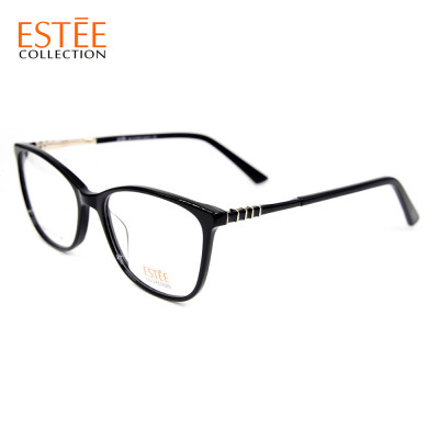 High quality new model fashion design metal spectacles thin Acetate optical eyeglasses frames